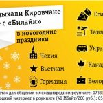 Жители Кировской области предпочитают мобильный интернет «Билайн» за границей